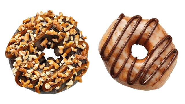Dunkin Donuts Chocolate Pretzel Donut and Peanut Butter Delight Croissant Donut