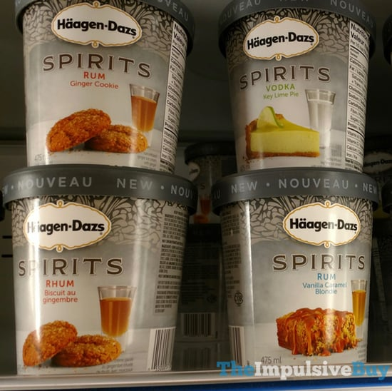 Haagen Dazs Spirits Ice Cream  Rum Ginger Cookie Vodka Key Lime Pie and Rum Vanilla Caramel Blondie