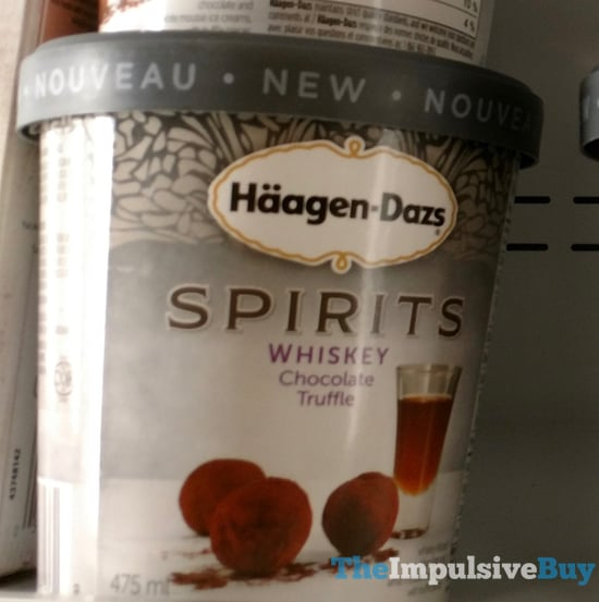 Haagen Dazs Spirits Whiskey Chocolate Truffle Ice Cream