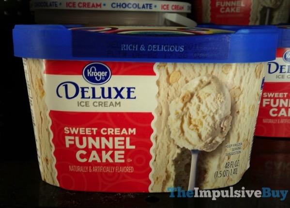 Kroger Deluxe Sweeet Cream Funnel Cake Ice Cream