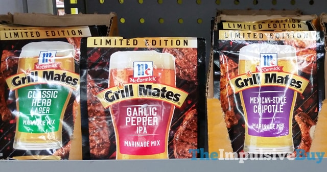 Limited Edition McCormick Grill Mates Marinade Mixes  Classic Herb Lager Garlic Pepper IPA and Mexican Style Chipotle