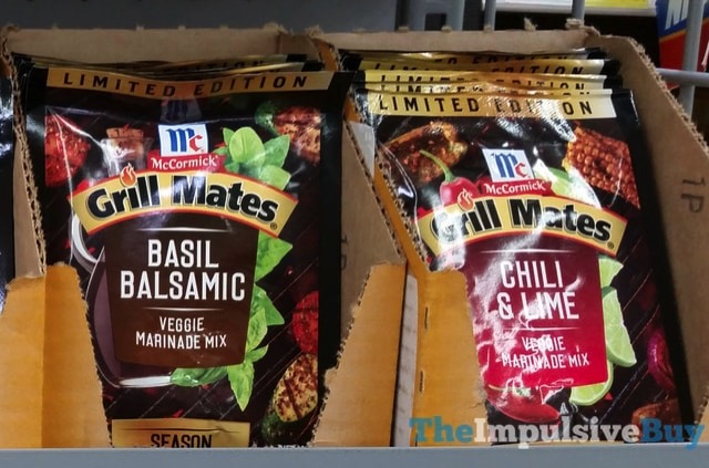 Limited Edition McCormick Grill Mates Veggie Marinade Mixes  Basil Balsamic and Chili  Lime