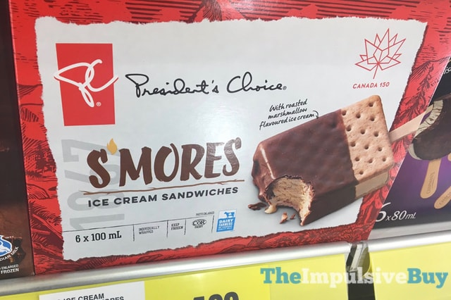 President s Choice S mores Ice Cream Sandwiches