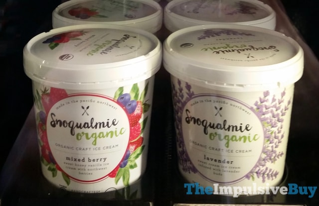 Snoqualmie Organic Mixed Berry and Lavender Ice Cream