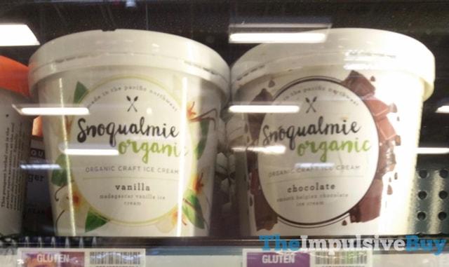 Snoqualmie Organic Vanilla and Chocolate Ice Cream