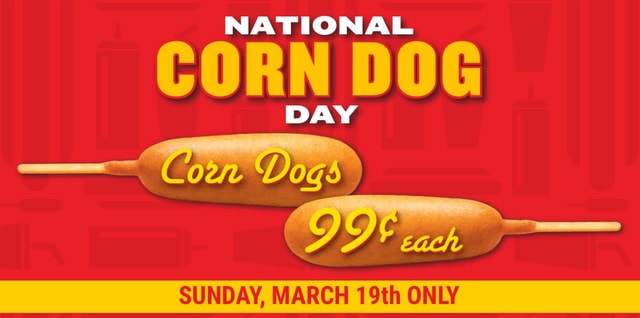 Wienerschnitzel Corn Dogs for 99 Cents Today