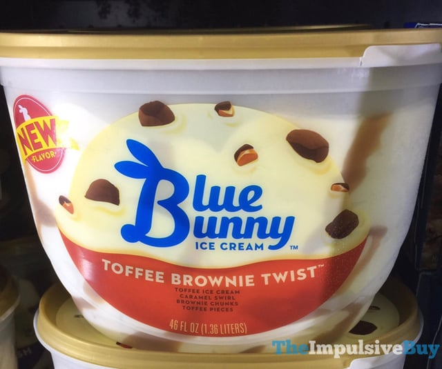 Blue Bunny Toffee Brownie Twist Ice Cream