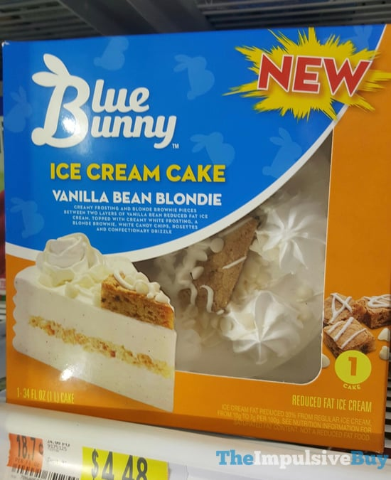 Blue Bunny Vanilla Bean Blondie Ice Cream Cake