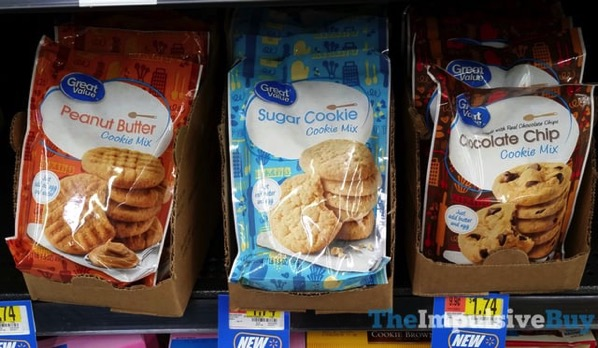 Great Value Cookie Mixes  Peanut Butter Sugar Cookie and Chocolate Chip