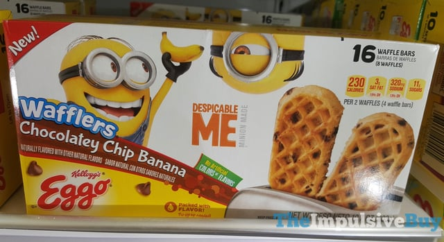 Kellogg s Eggo Despicable Me Chocolatey Chip Banana Wafflers