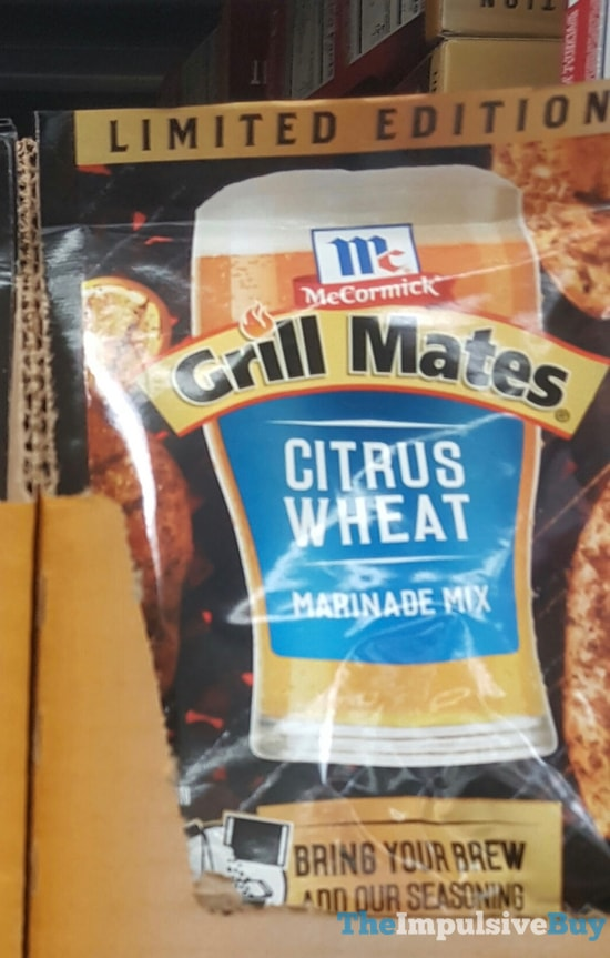 Limited Edition McCormick Grill Mates Citrus Wheat Marinade Mixe