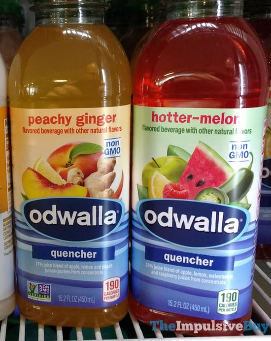 Odwalla Peachy Ginger and Hotter Melon Quenchers