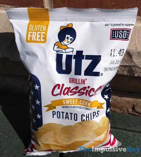 Utz Grillin Classics Sweet Corn Potato Chips