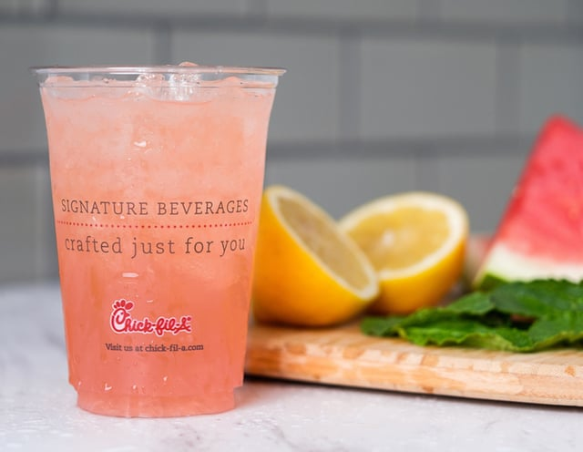 Chick fil A Watermelon Mint Lemonade