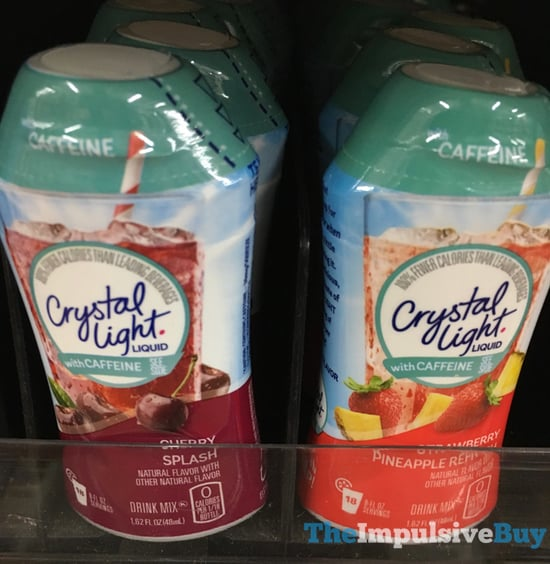 Crystal Light Liquid with Caffeine  Cherry Splash and Strawberry Pineapple Refresh