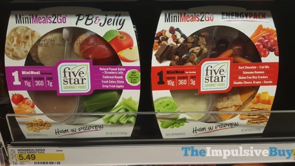 Five Star Gourmet Foods Mini Meals 2 Go  PB  Jelly and Energy Pack