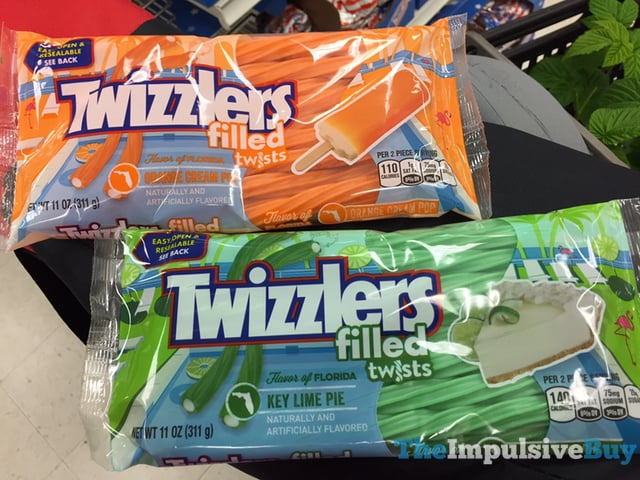 Flavor of Florida Orange Cream Pop and Key Lime Pie Twizzlers Filled Twists