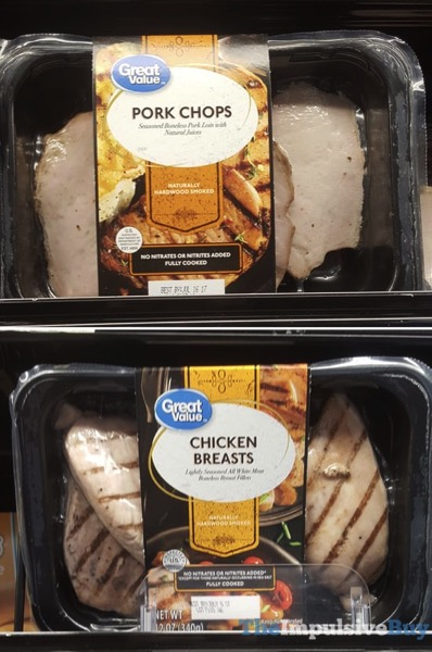 Great Value Pork Chops and Chicken Breasts