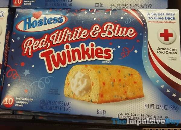 Hostess Red White  Blue Twinkies  2017