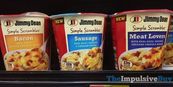 Jimmy Dean Simple Scrambles  Bacon Sausage and Meat Lovers
