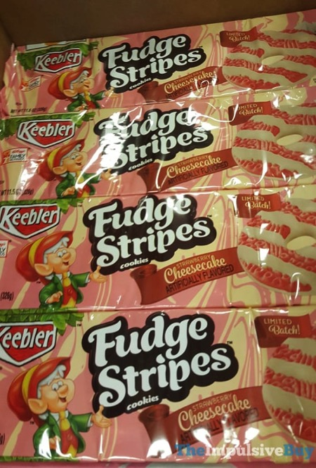 Keebler Limited Batch Strawberry Cheesecake Fudge Stripes Cookies