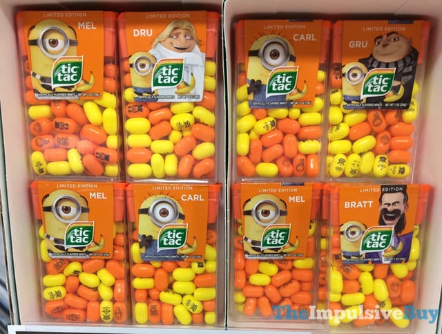 Limited Edition Despicable Me 3 Banana  Tangerine Tic Tac 2