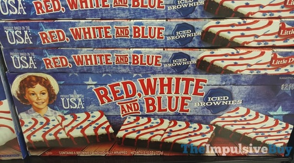 Little Debbie Red White and Blue Iced Brownies