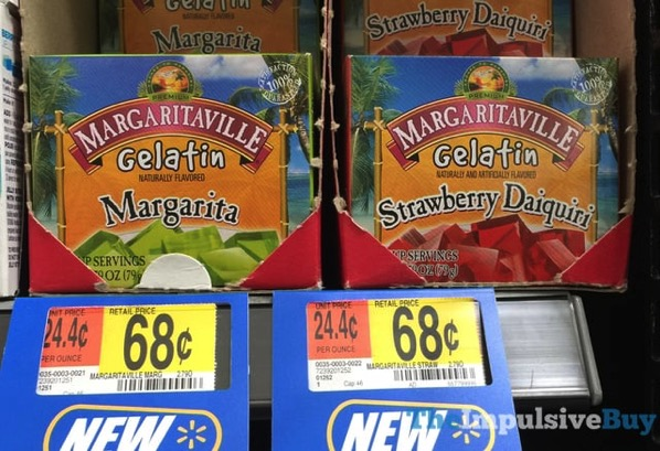 Margaritaville Gelatin  Margarita and Strawberry Daiquiri