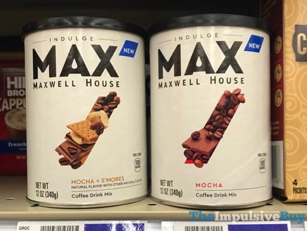Maxwell House MAX Coffee Drink Mixes  Mocha and Mocha + S mores