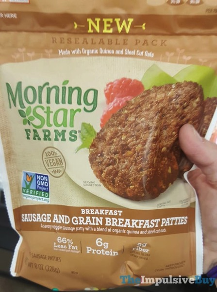 Morningstar Farms Sausage And Grain Breakfast Patties