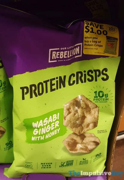 Our Little Rebellion Protein Crisps Wasabi Ginger with Honey
