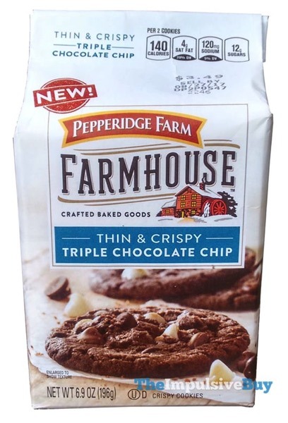 Pepperidge Farm Farmhouse Triple Chocolate Chip Cookies