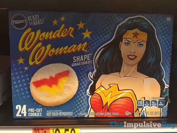 Pillsbury Wonder Woman Shape Sugar Cookies
