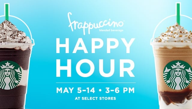 Starbuck Frappuccino Happy Hour 2017