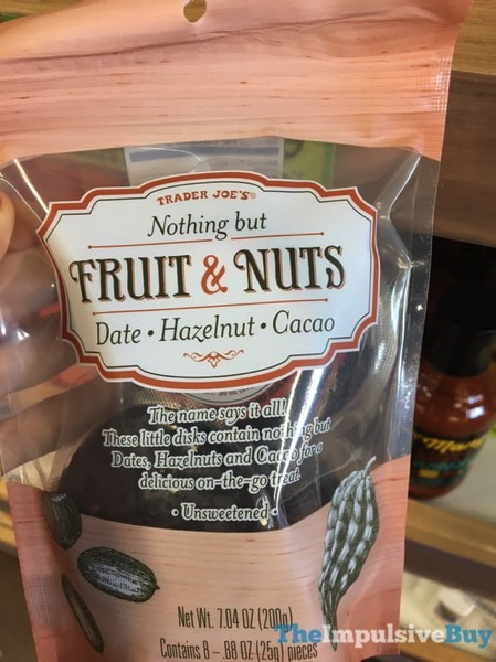 Trader Joe s Nothing But Fruit  Nuts Date Hazelnut Cacao