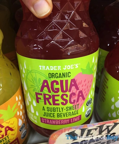 Trader Joe s Organic Agua Fresca Strawberry Lime