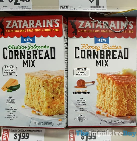 Zatarain s Cornbread Mixes  Cheddar Jalapeno and Honey Butter