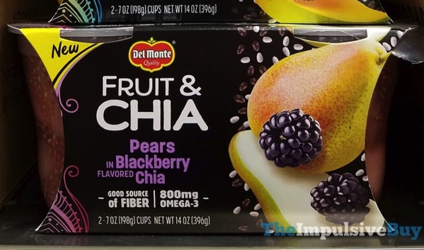 Del Monte Fruit  Chia Pears Blackberry Chia