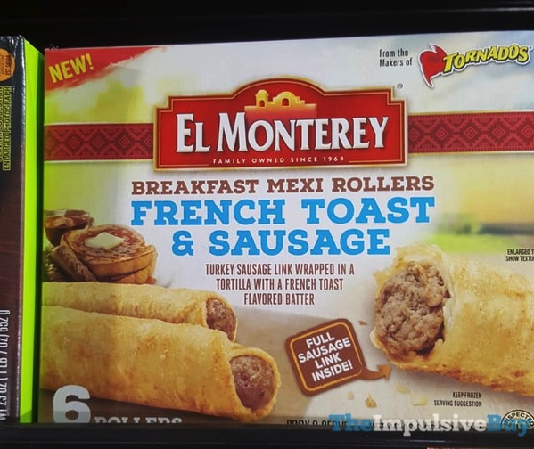 El Monterey Breakfast Mexi Rollers French Toast  Sausage