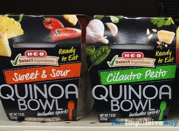 H E B Quinoa Bowls  Sweet  Sour and Cilantro Pesto