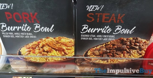 I Have No Idea What the Brand Is Pork and Steak Burrito Bowls