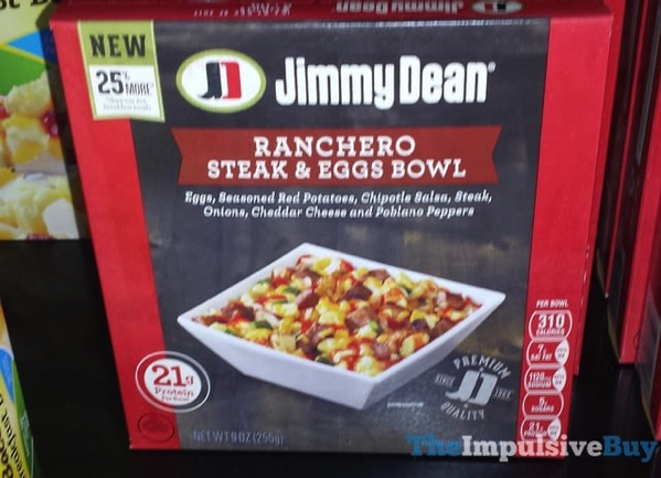 Jimmy Dean Ranchero Steak  Eggs Bowl