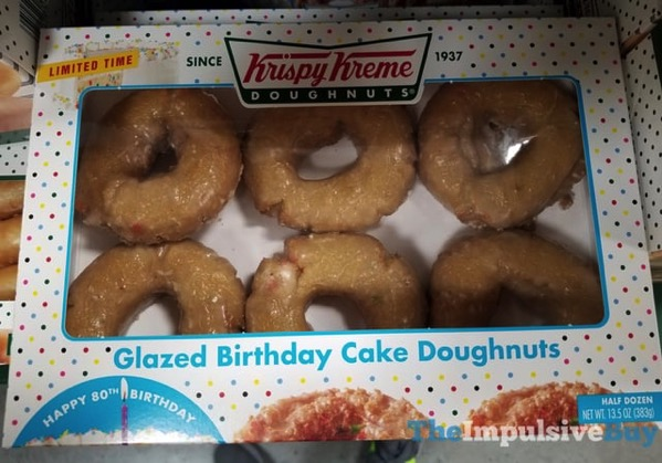 Limited Time Krispy Kreme Glazed Birthday Cake Doughnuts