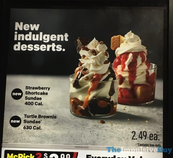 McDonald s Strawberry Shortcake and Turtle Brownie Sundaes