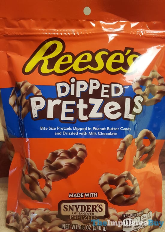 Reese s Dipped Pretzels Made with Snyder s of Hanover Pretzels