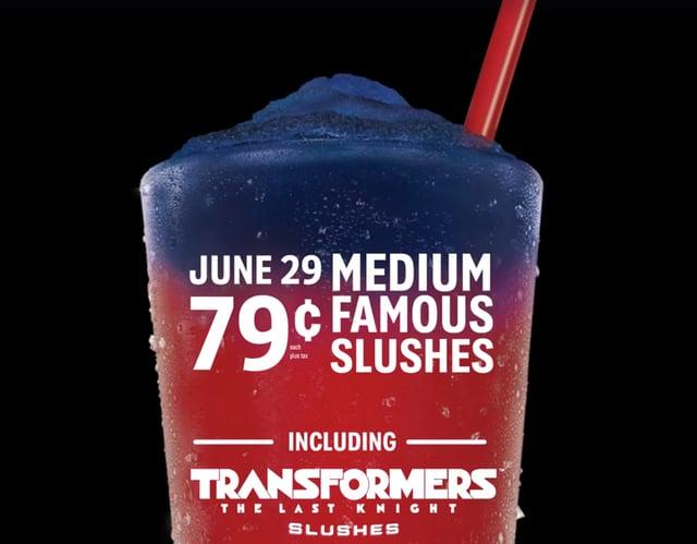 Sonic 79 cent slushes