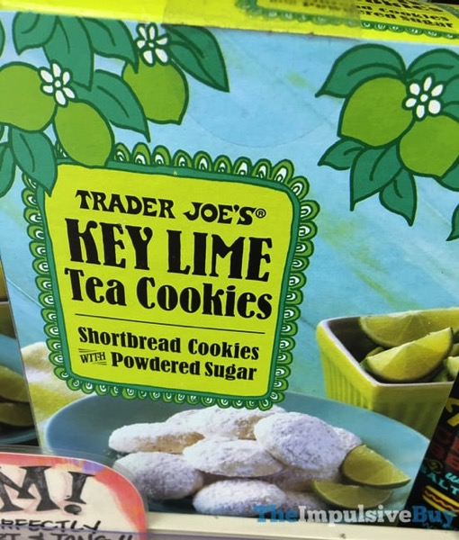 Trader Joe s Key Lime Tea Cookies Shortbread Cookies with Powdered Sugar