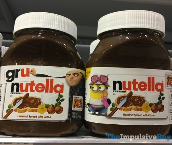 Despicable Me 3 Packaging Nutella