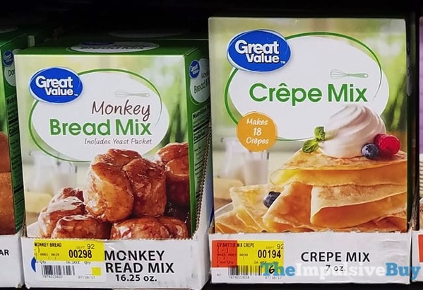 Great Value Monkey Bread Mix and Crepe Mix