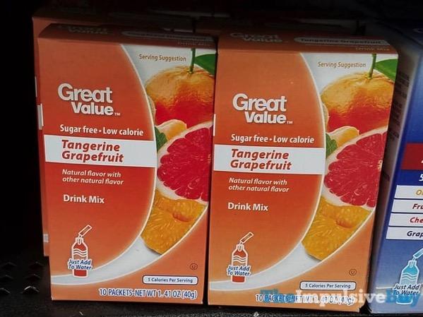 Great Value Tangerine Grapefruit Drink Mix